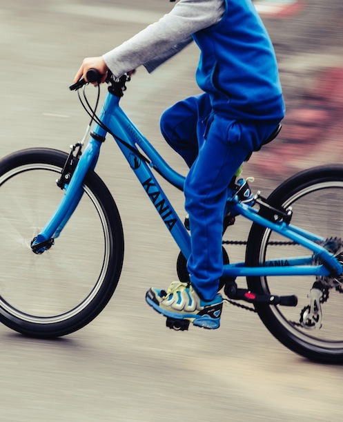 Motorische Herausforderung Radfahren lernen in der Ergohterapie, Praxis Karlsplatz